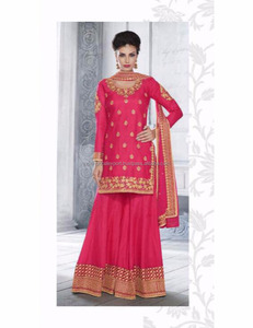 Pink colour women party sharara dress