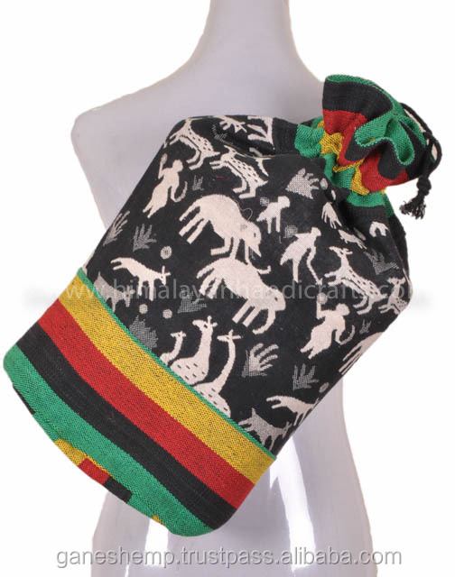 Rasta Animal Printed Hemp Backpack BPK 0010
