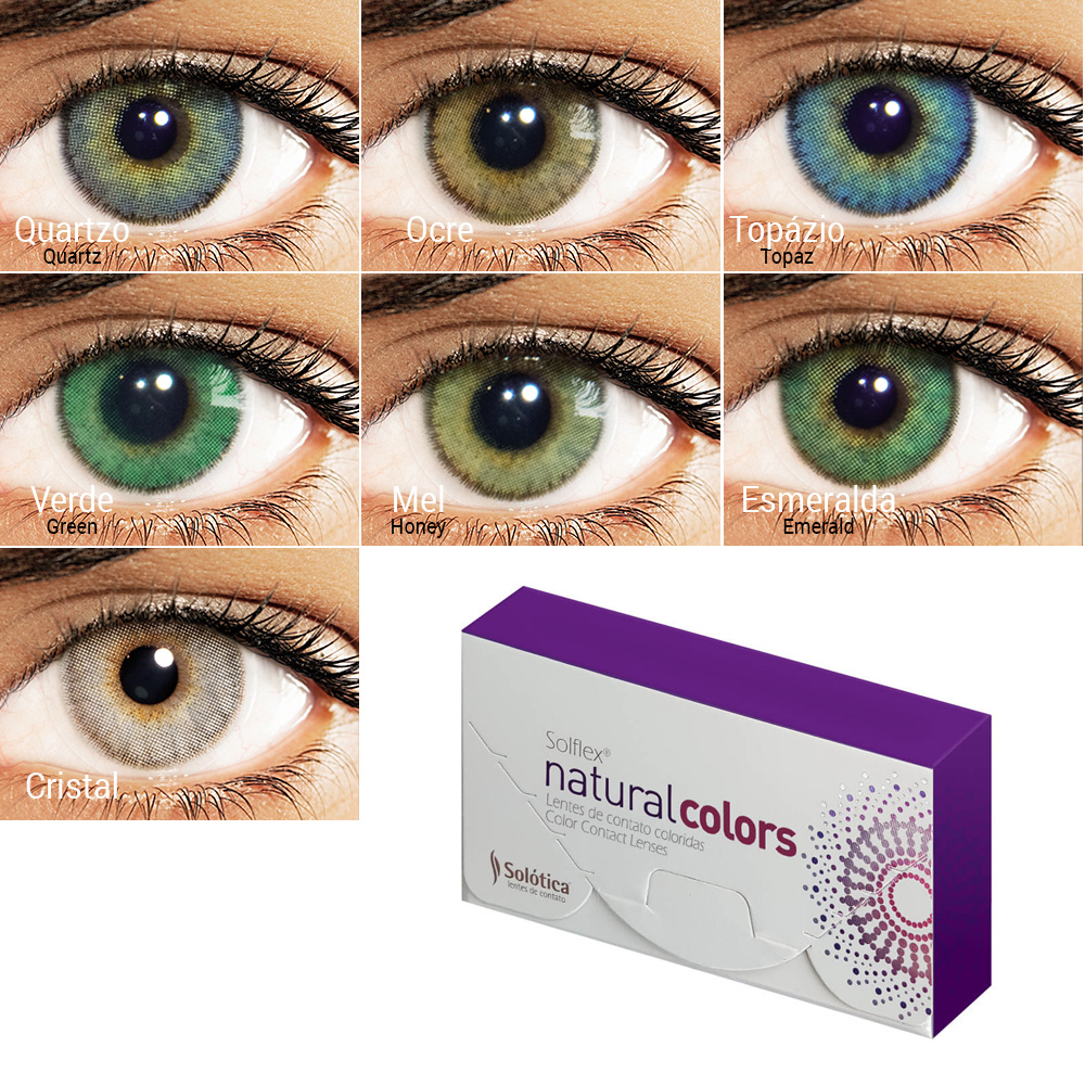 Colored Contact Lenses Solflex Natural Colors Monthly Color Contacts