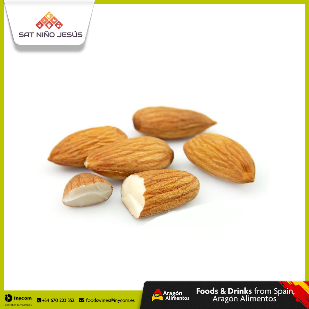 Spanish Almonds of Marcona, Largueta, Belona and Common Types cultivated in Mountain Area | SAT Nino Jesus