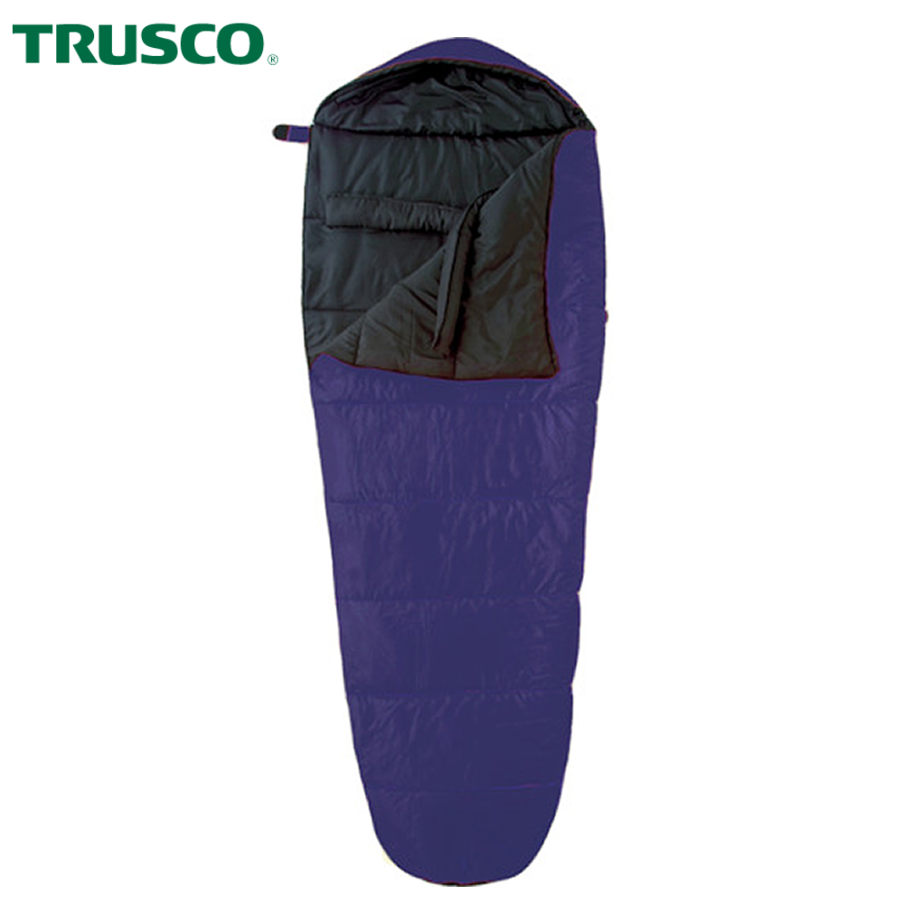 Mummy style SLEEPING BAG for Camping, Survival NAVY TRUSCO