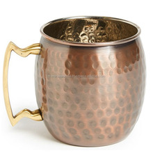 COPPER ANTIQUE MOSCOW MULE MUG 100% COPPER WITH BRASS HANDLE