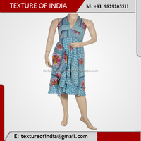 Best Quality Flower Designed beautiful Light Blue Color silk Garments.