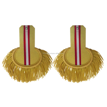 Gold and Red Bullion Wire Shoulder Epaulettes | Customize Bullion Epaulettes For Sale