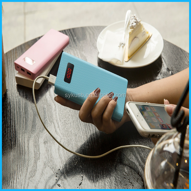 Marketing Gift Blue ABS Smart Power Bank with One Year Warranty