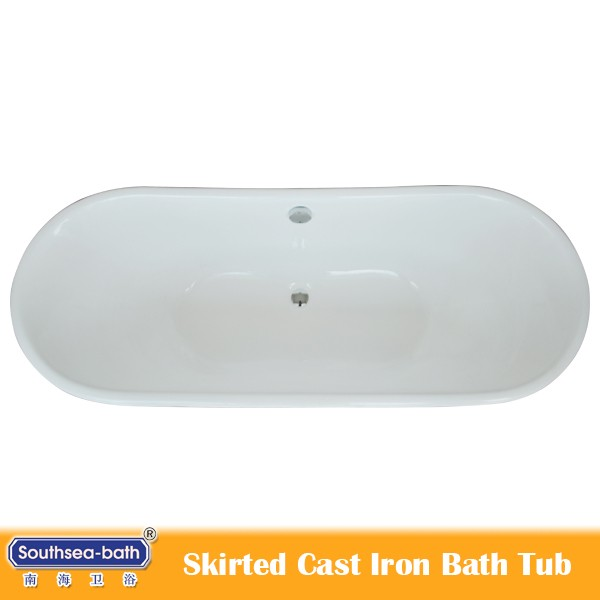 USA hot sale NH-NP012 Cast Iron Bathtub with Copper Skirt New design