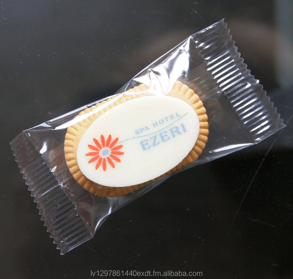 Coffee Biscuit with Custom Dark/White Belgian Chocolate in a Polybag, 5g