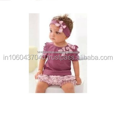 Baby Girls 100% Cotton Romper Infant Toddlers Bubble Bloomers Cute Fancy Baby Wear
