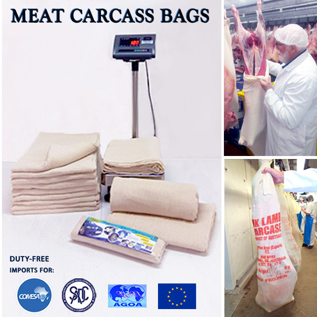 STOCKINETTE MEAT CARCASS WRAP BAGS - SOUTH AFRICA - 0% Import Duty with SADC