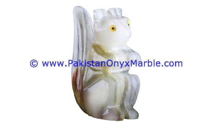 FACTORY SUPPLY ONYX CARVED ONYX SQUIRREL STATUE