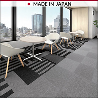 Carpet tile block stripe and plain for office communication rooms of stylish, Made in Japan, TAPIS PLAYNUE2, TAJIMA ROOFING INC.