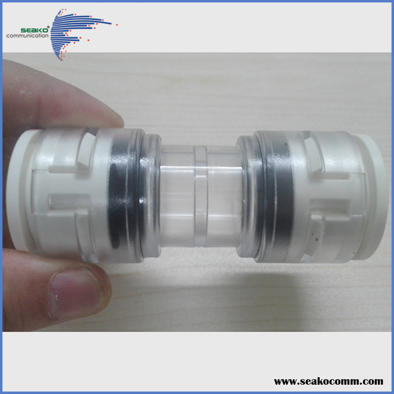 Free Sample for test, HDPE Microduct Straight Connector, End caps, Coupler or joint.