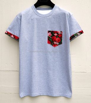 Crew Neck T-Shirt with chest pocket