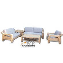 Simple Modern Design Wooden White Oak Frame Sofa Set Living room Home furniture