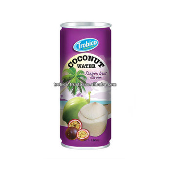 240ml Canned Coconut Water With Passion From VietNam