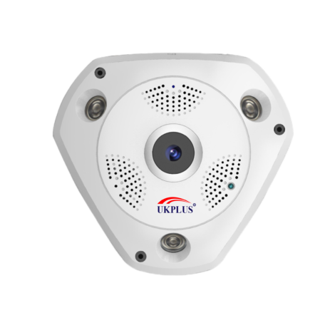 VR Camera, 3MP, 360 degree surveillance , TF card, 2 way audio, Support SD card 128GB max