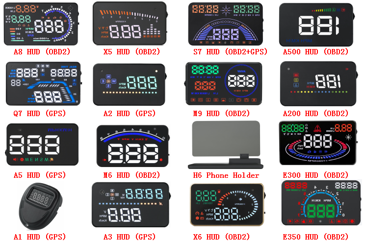 3.5 inch A2 car HUD GPS head up display