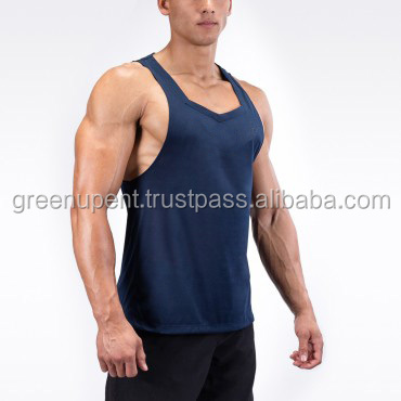 Gym Stringer Tank Top Men Bodybuilding Clothing and Fitness Mens Sleeveless Shirt Sports Vests