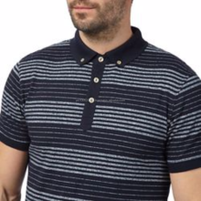 Big and tall navy striped polo shirt /Wholesale Bulk Polo t Shirt