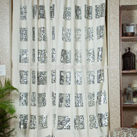 2017 new arrival Bedroom use Factory wholesale indian cotton curtains