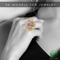 GOLD RING- 3D printing design cam pieces for jewelry