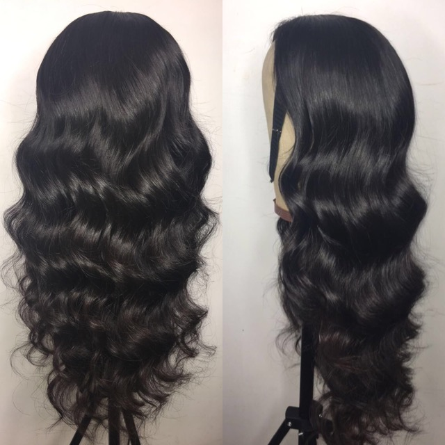 Virgin Brazilian hair 100% Human Hair Brazilian Deep Wave/ Body Wave/ straight/ loose wave Lace Closure Wig