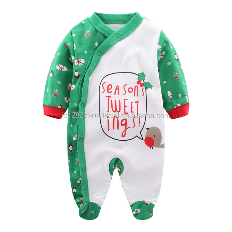 Green Christmas Baby Cute Clothes Sweet Boy Girls Baby Clothing