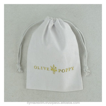 "3""x4"" cotton muslin bags with drawstring and custom printingblack muslin packaging bag with custom hot stamping logo30cm x 30cm"