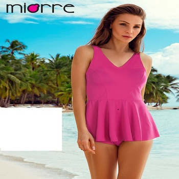 MIORRE OEM WOMEN NEW 2017 COLLECTION FUCHSIA ABDOMEN COVERING SKIRTED TANKINIS SWIMWEAR