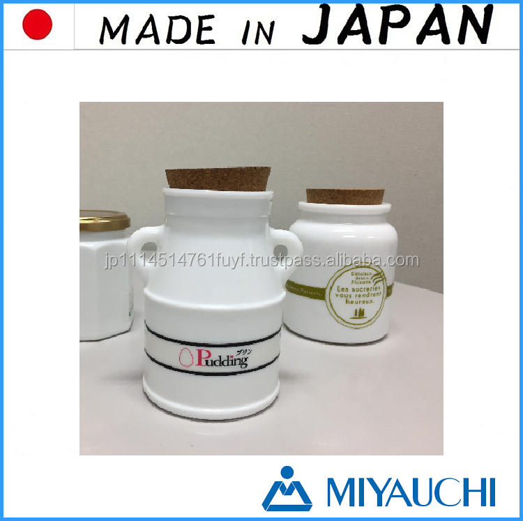 Original and luxury japanese traditional accessories White Glass Jar ( GYOKU ) for highly priced luxury products