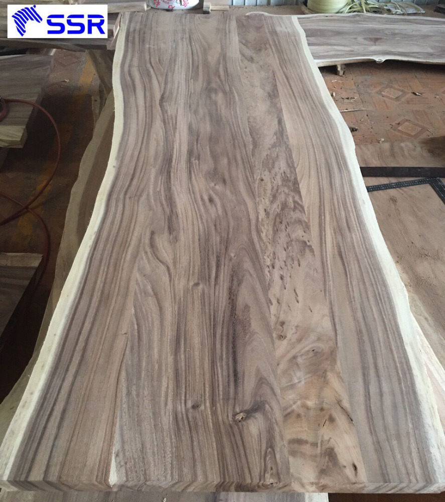 Raintree/Suar/Monkey/Parota/Guanacaste Natural Slab Wood for Decorate/ Design/ Furniture