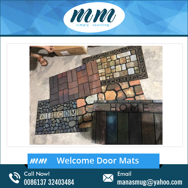 Top Selling PVC Coil Welcome Logo Door Mat for Shop Use