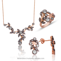 Diamond Design Turkish Silver 925 Set