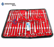 157 PC !VETERINARY !NEEDLE HOLDER ,SCISSORS,HEMOSTAT,SCALPEL HANDLES ,SCALPEL BLADES-INSTRUMENTS ( ALL IN ONE )
