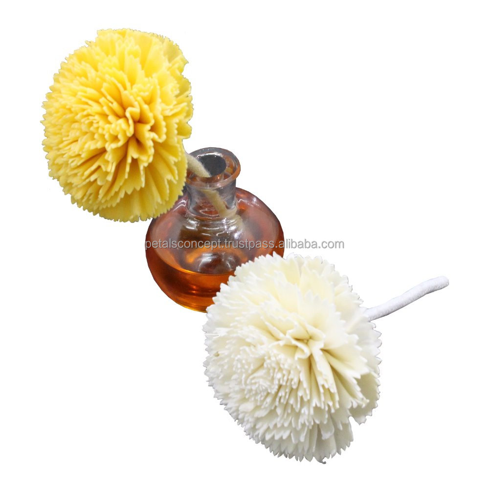 Natural diffuser sola flower with cotton wick