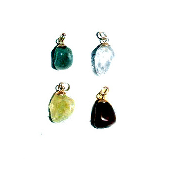 Quartz Pendants Set, Natural Stones Ethnic Handmade Jewelry from Peru