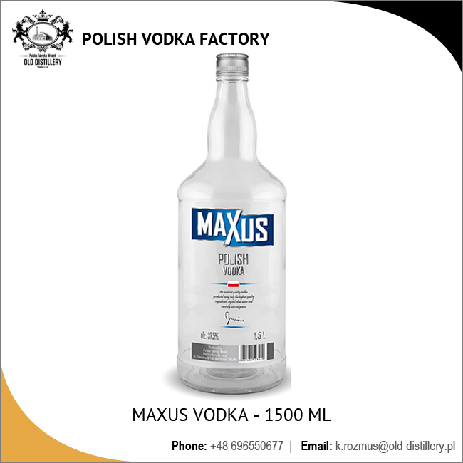 1500 ml Bottle Vodka with 40% Alcohol Content