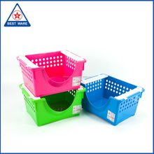 Multicolor Food Serving Plastic Stackable Tray