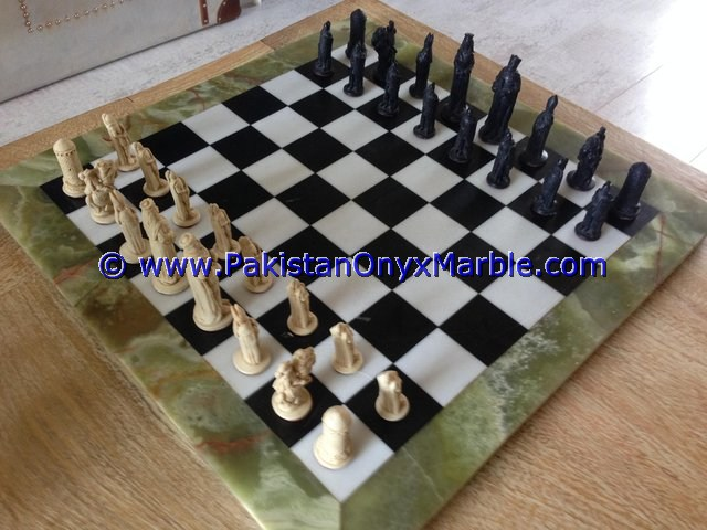 unique rage of Chess Onyx Table set with figures