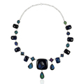 Legendary handmade druzy necklace women jewellery 925 sterling silver gemstone necklaces online jewelry
