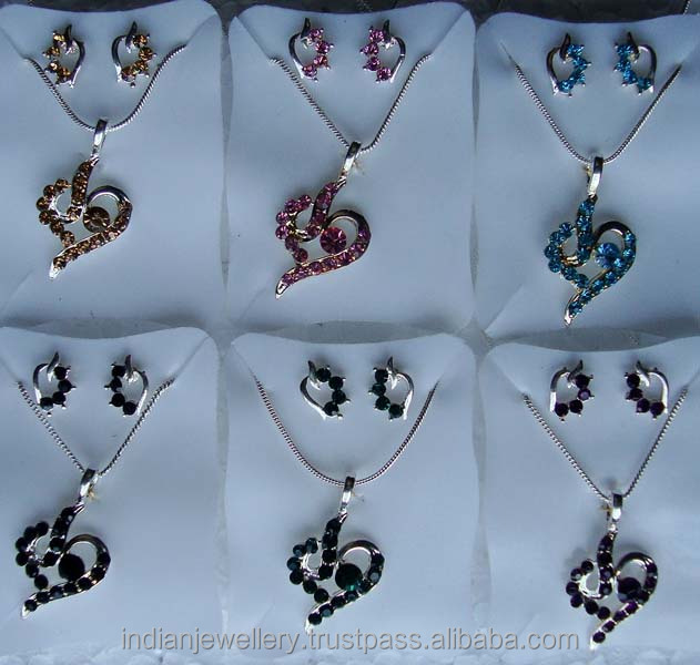 Fashion pendant jewellery sets with earring exporter, Fashion pendent jewellery sets with earrings manufacturer