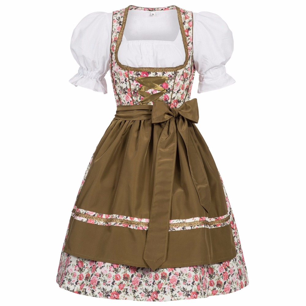TRACHTEN DIRNDL OKTOBERFEST DRESS, TRADITIONAL BAVARIAN DIRNDL,BAVARIAN