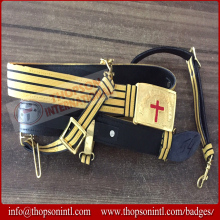 Knight Templar Sword Belt Gold