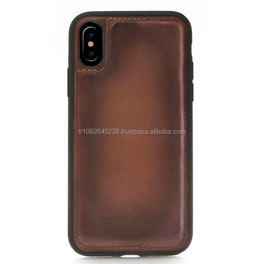 Leather mobile phone case for iphone X