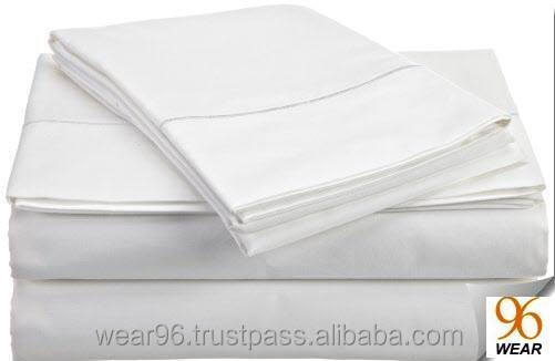 230 Thread Count 50/50 Polyester Cotton Hotel Hospital Sheets