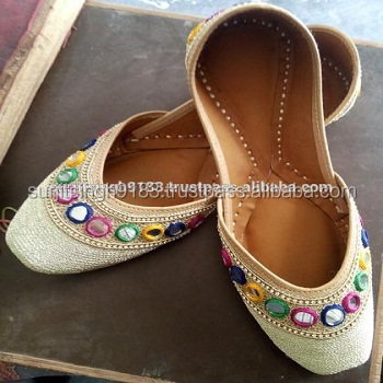 Indian Handmade Colorful punjabi jutti nagra mojari women shoes