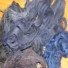 100% cotton denim black & blue yarn waste