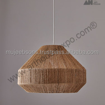 Decorative Jute & Rope Pendant Lamp - Modern Style - Indoor Lamps