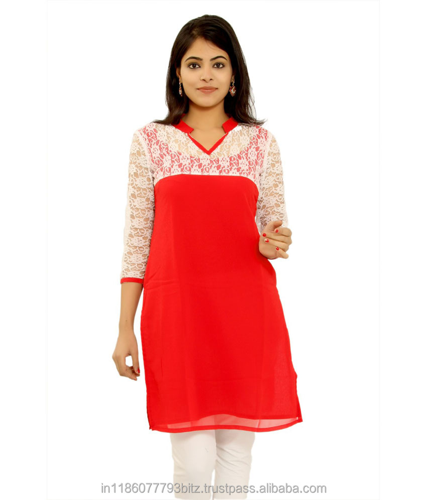 New Arrival Bridal Red Kurti For Girls