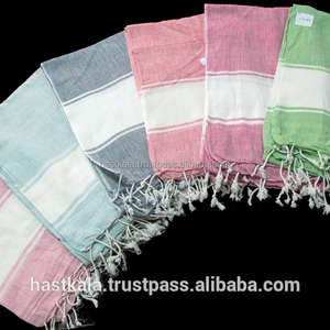 100% Cotton Turkish Hammam Fouta Towel in Azo Free Dyes and Fast Colors